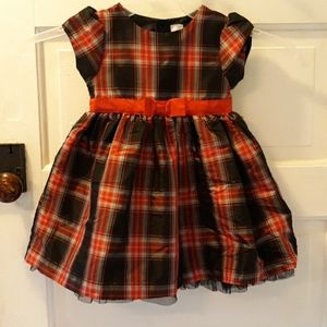 Carters 24m black red plaid dress